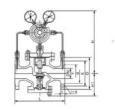 YK43X天然氣減壓閥2