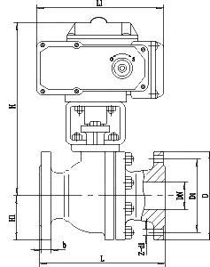電動O型切斷球閥2