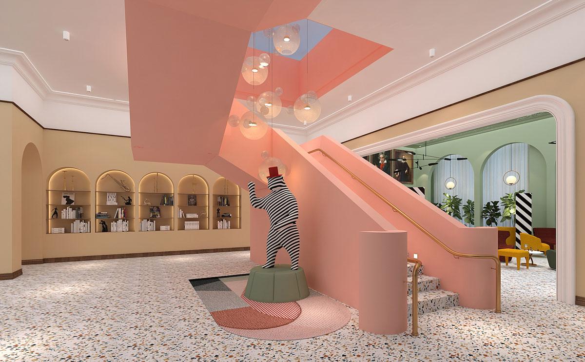 爱缇思钢琴培训机构楼梯2