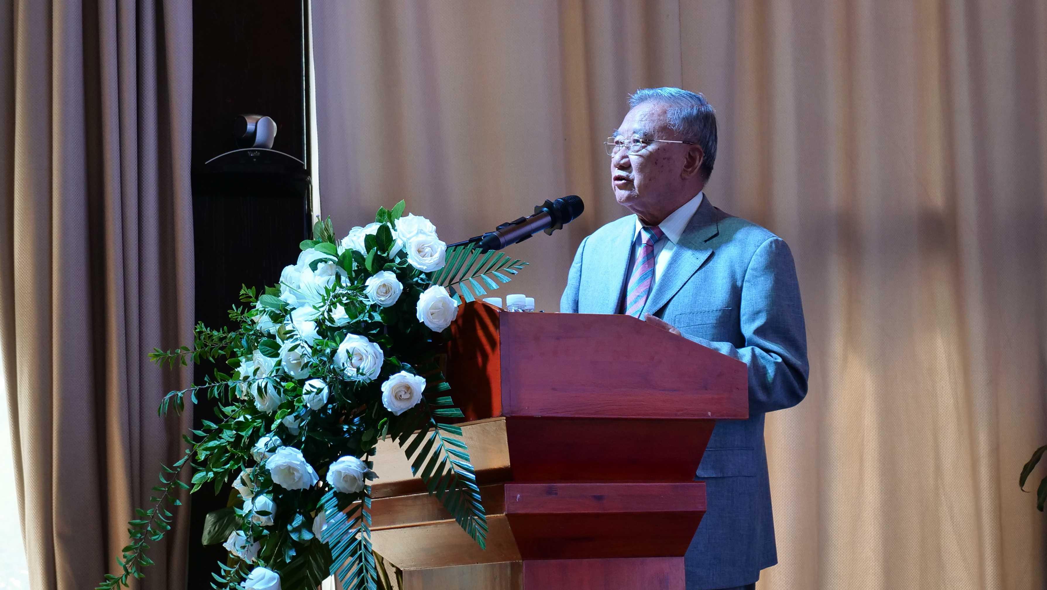 精选-8中国科学院昆明植物研究所研究员、原副所长裴盛基先生做主旨演讲