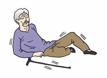 老人腿腳不好