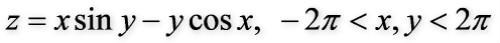 等高线图对应函数1_2