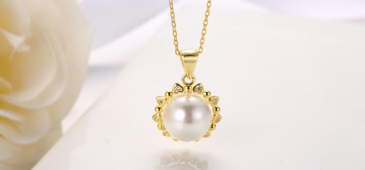 心形围珍珠吊坠,耳钉,介子-IMG_2841_1