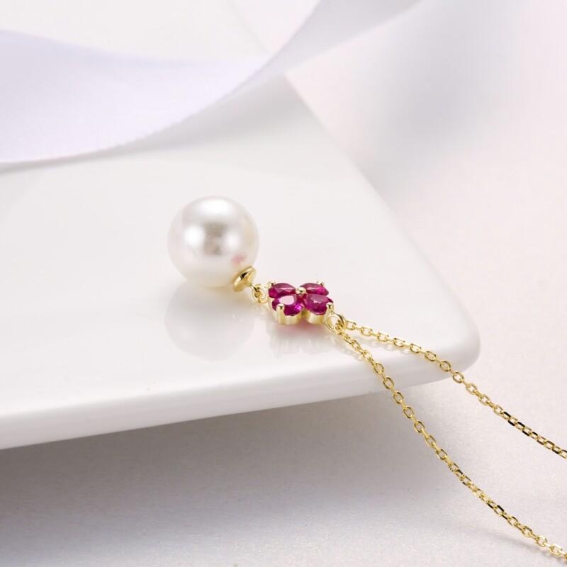 心形钻珍珠吊坠,耳钉-IMG_2834