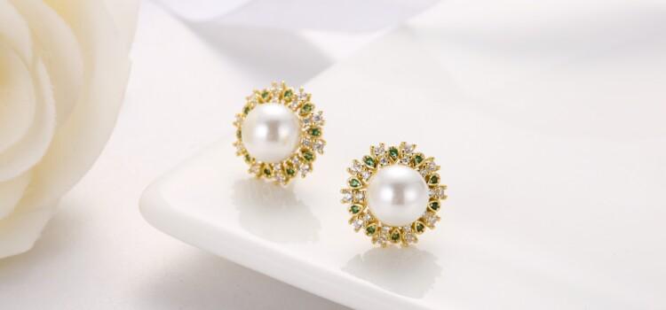 钻石围珍珠介子,吊坠,耳钉-IMG_2
