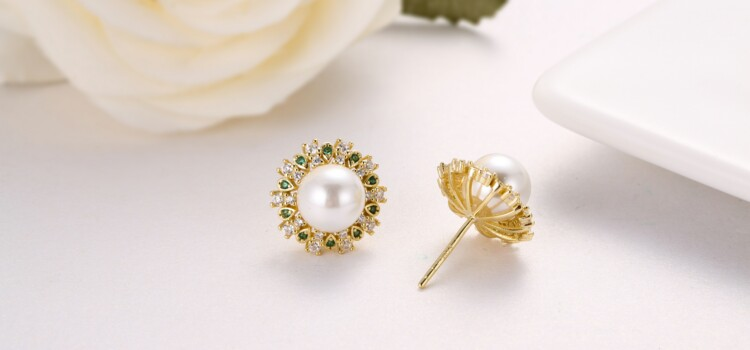 钻石围珍珠介子,吊坠,耳钉-IMG_2858_1