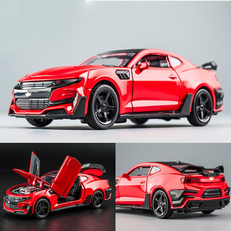 科迈罗-KIDAMI-Camaro-1-32-hohe-Simulation-Legierung-Diecast-Auto-Modell-Pull-Zur-ck-Sound-Licht-Sammlung-5