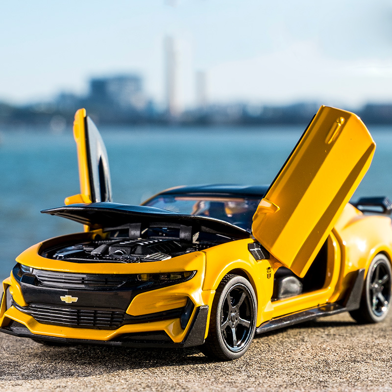 科迈罗-KIDAMI-Camaro-1-32-hohe-Simulation-Legierung-Diecast-Auto-Modell-Pull-Zur-ck-Sound-Licht-Sammlung