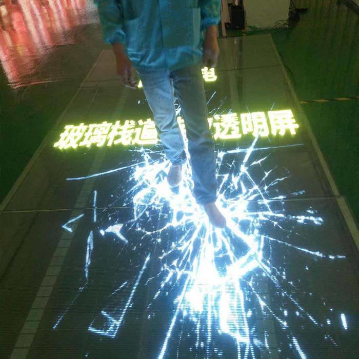 led玻璃栈道