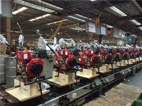 Agricultural machinery assembly line