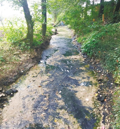 遥感监测到成都成华区大头河黑臭现象反弹,河道两岸护坡存在污垢痕迹