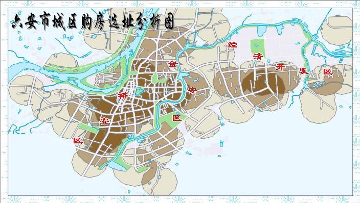 六安市城区购房选址分析图1