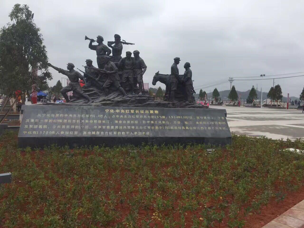紅軍雕塑玻璃鋼戰爭雕塑2