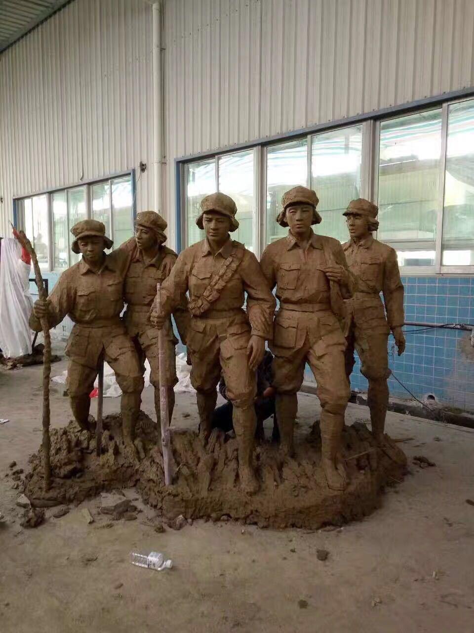 紅軍雕塑玻璃鋼戰爭雕塑5
