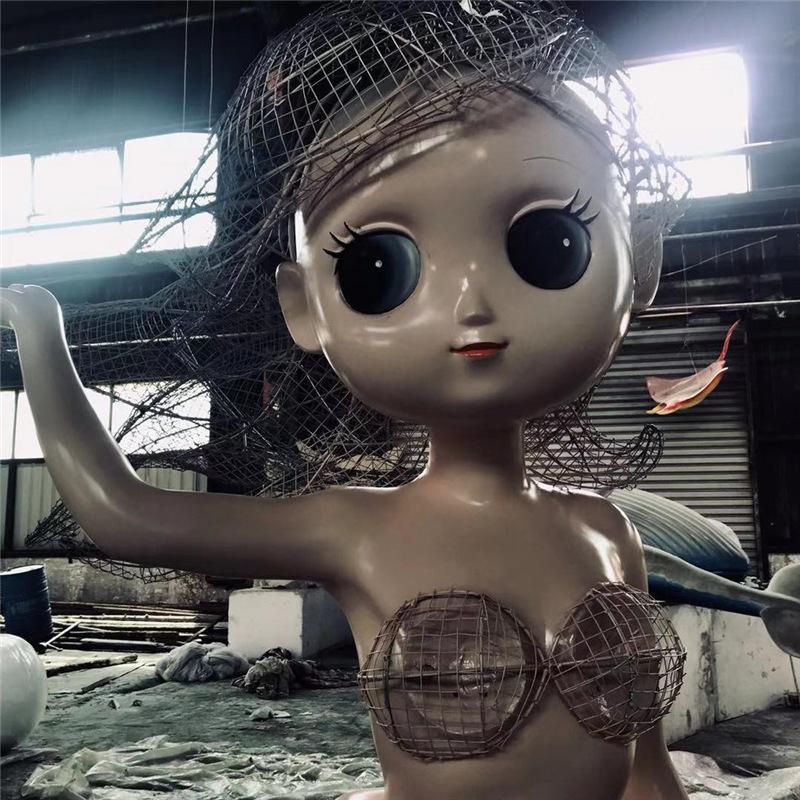 美人魚玻璃鋼雕塑加工