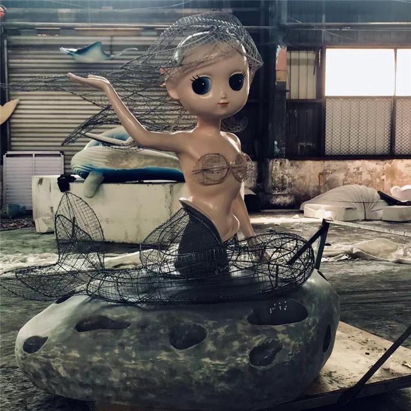 美人魚玻璃鋼雕塑加工1