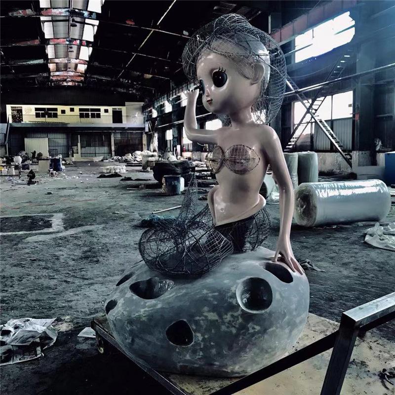 美人魚玻璃鋼雕塑加工2