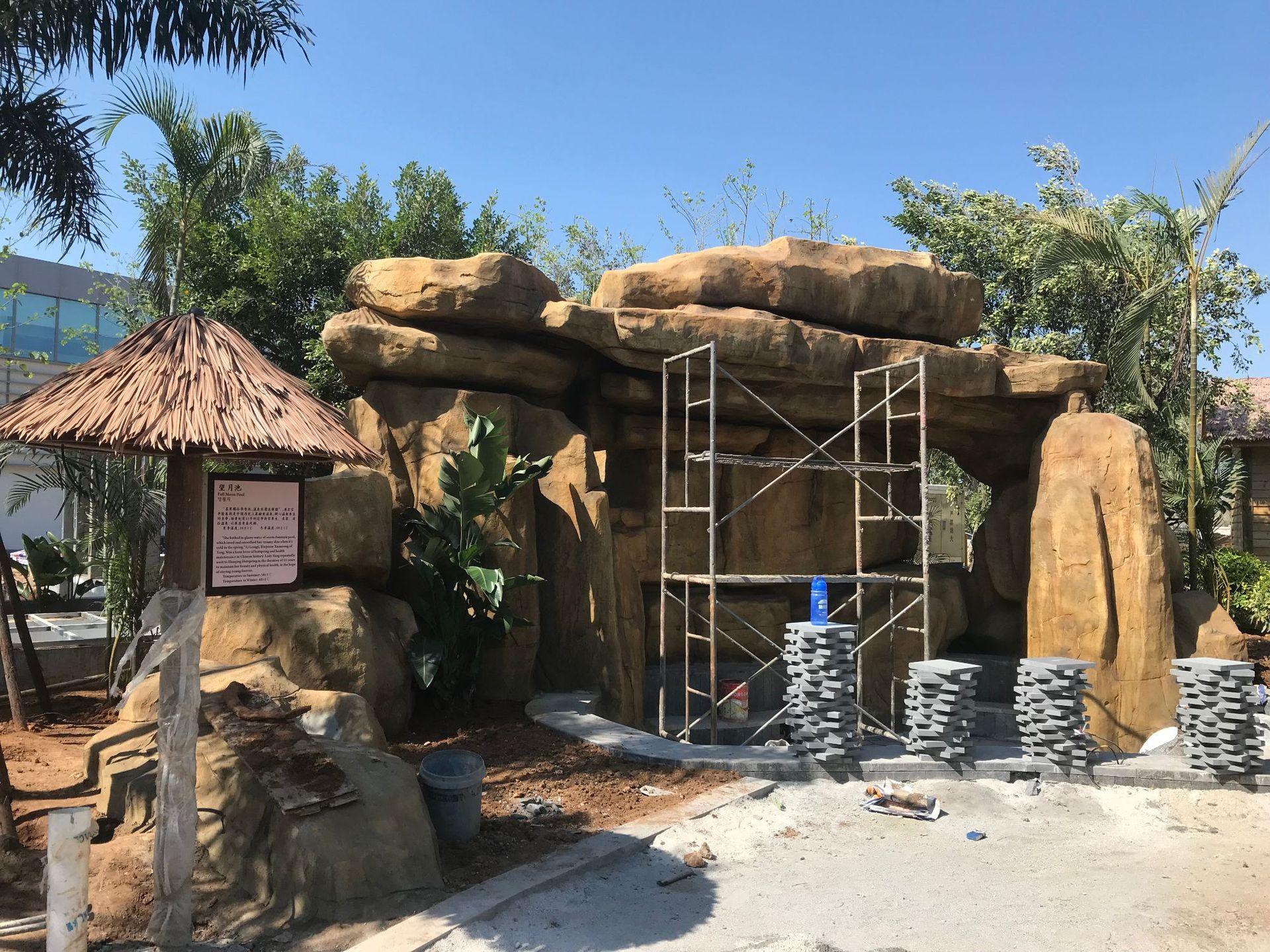 假山塑石水泥雕塑仿石塑石1