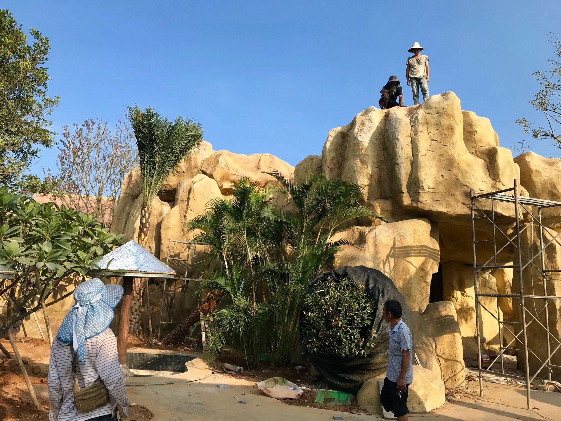 假山塑石水泥雕塑仿石塑石2