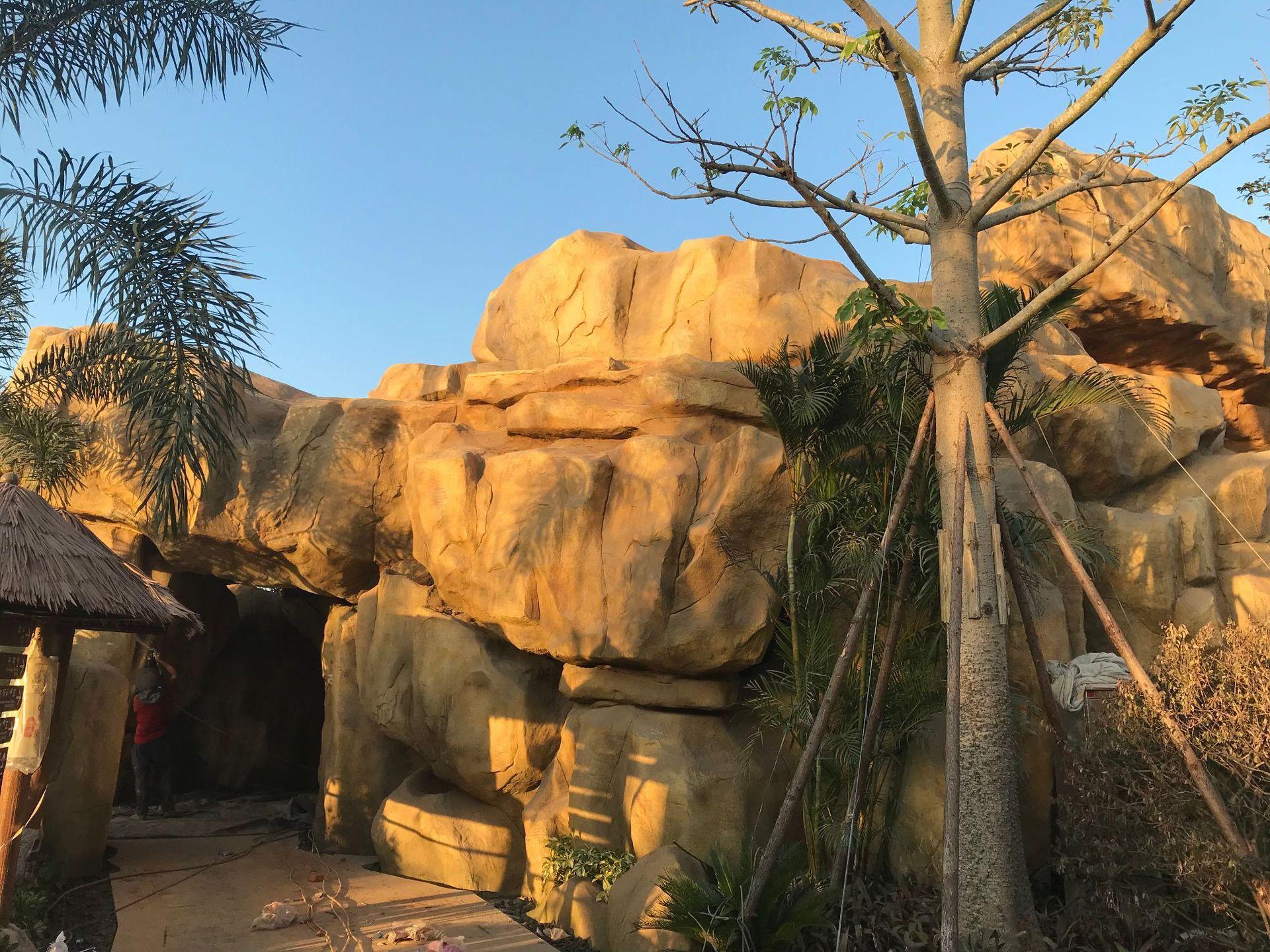 假山塑石水泥雕塑仿石塑石3