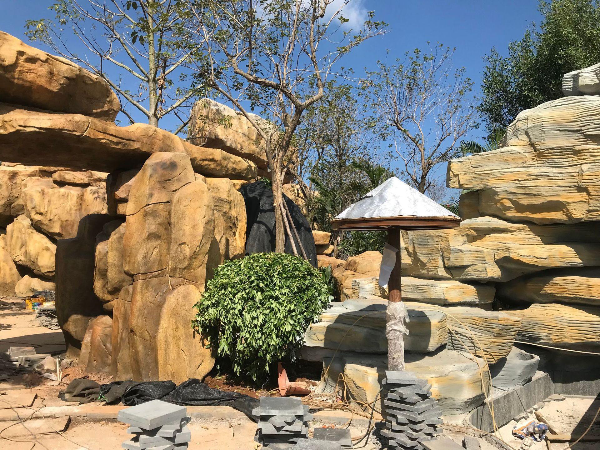 假山塑石水泥雕塑仿石塑石5