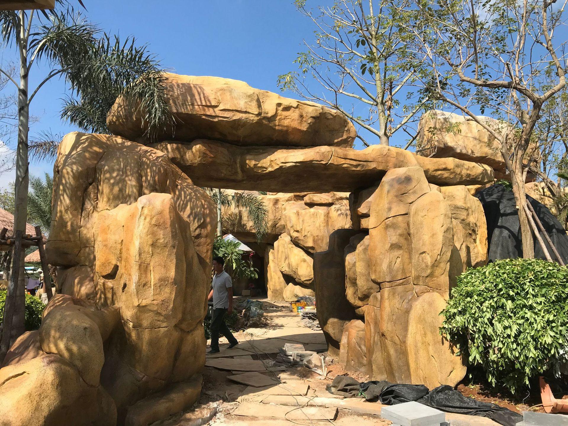 假山塑石水泥雕塑仿石塑石6