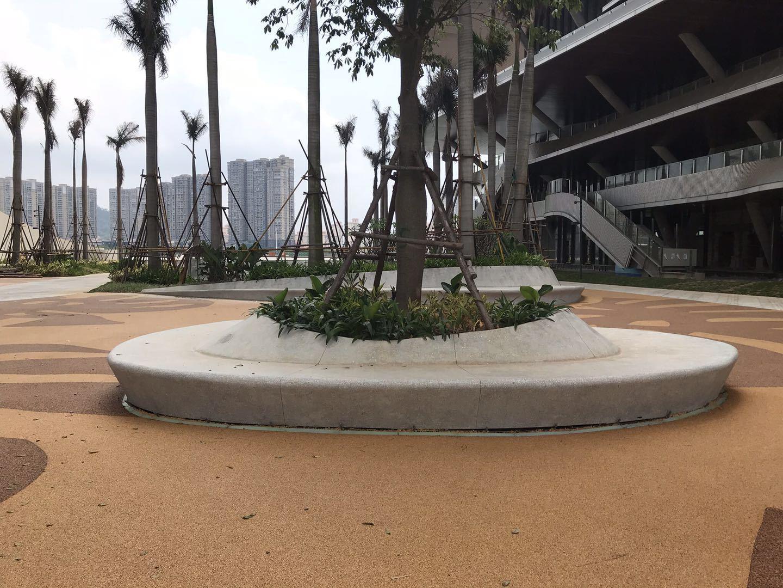 水泥樹池室外雕塑水磨石水泥花池園雕