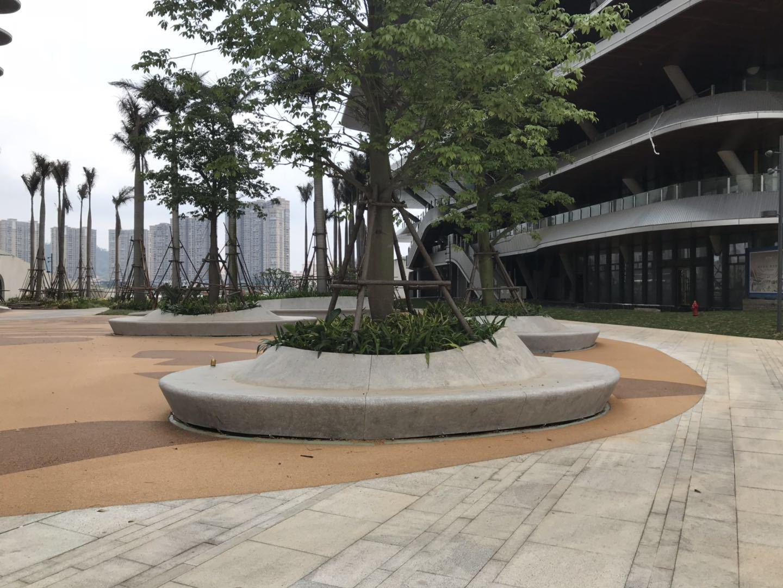 水泥樹池室外雕塑水磨石水泥花池園雕1