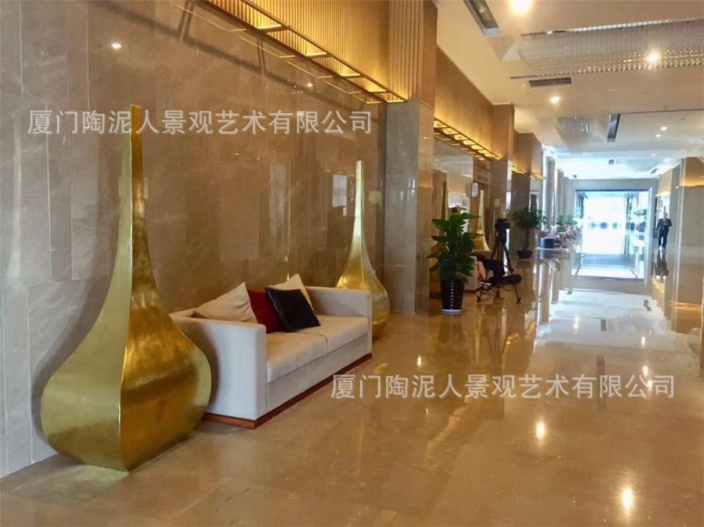 玻璃鋼酒店雕塑擺件