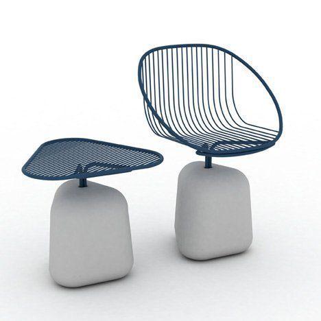 玻璃鋼座椅創意辦公桌椅3