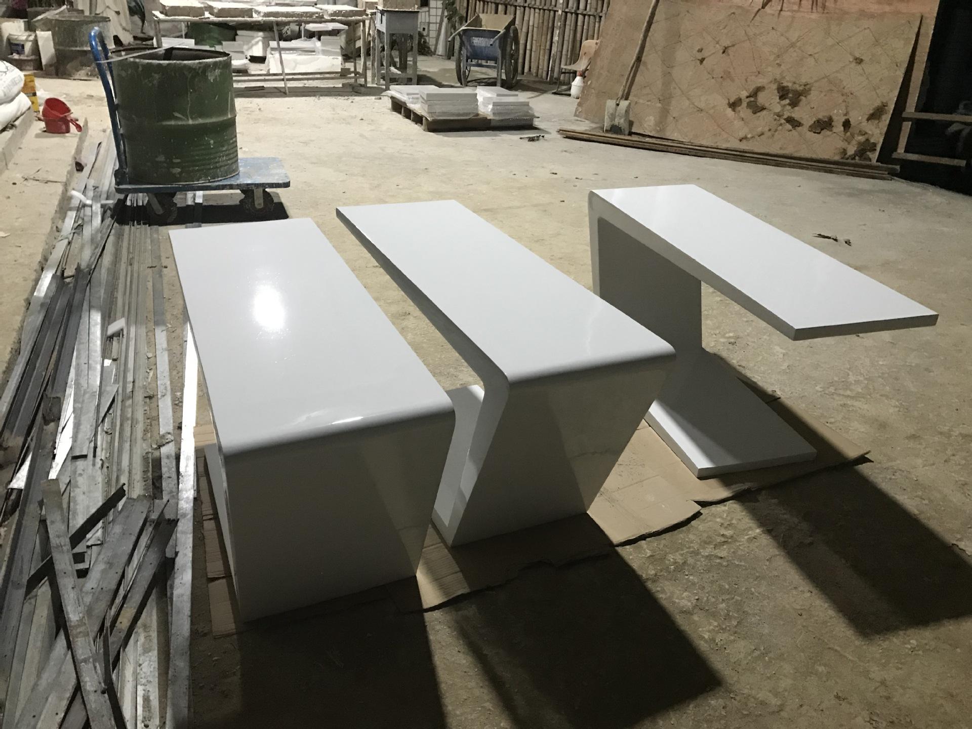 創意坐凳桌椅玻璃鋼座椅