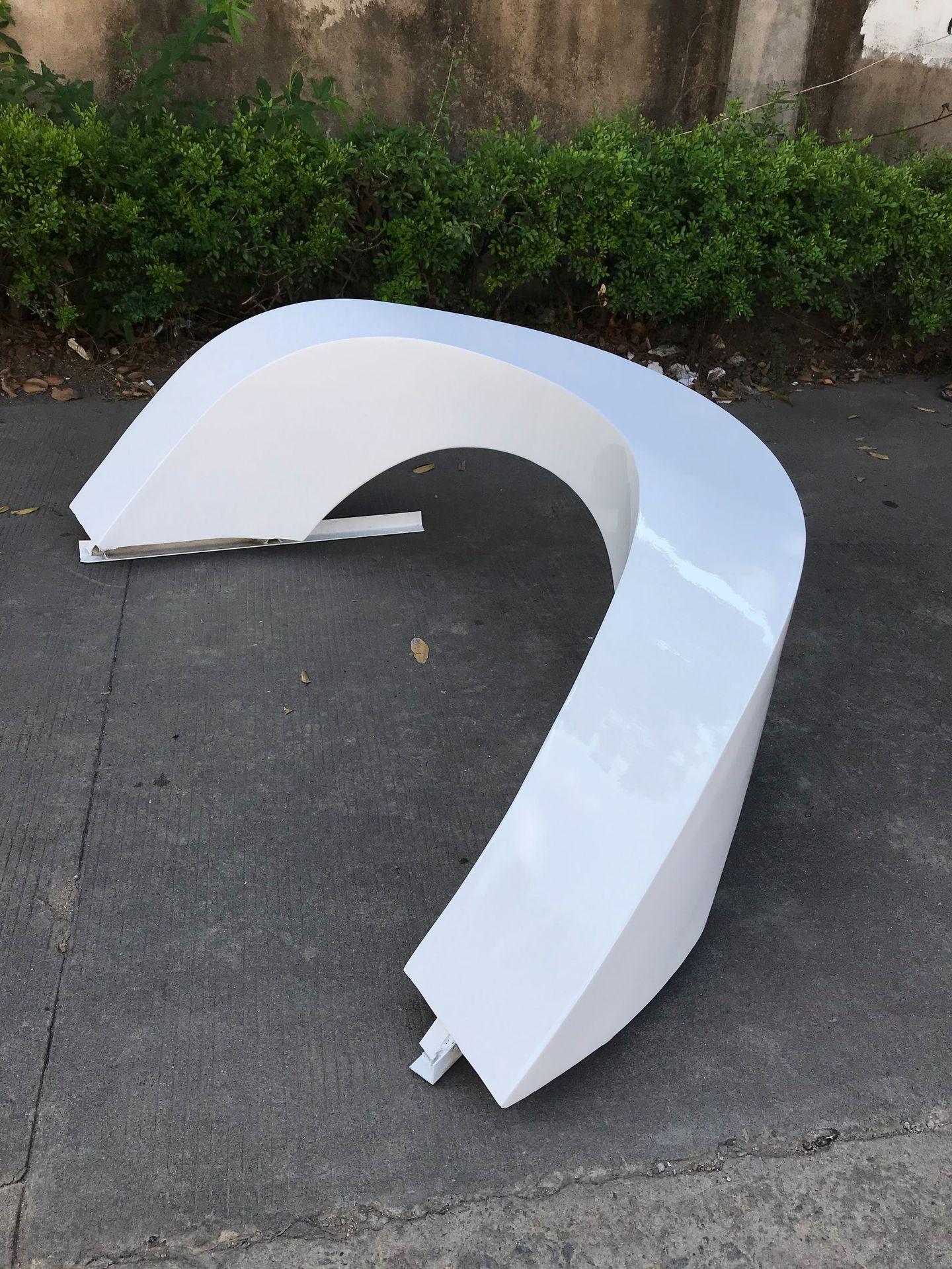 創意坐凳桌椅玻璃鋼座椅3