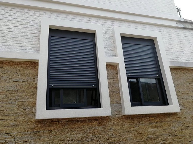 铝合金卷帘遮阳一体窗