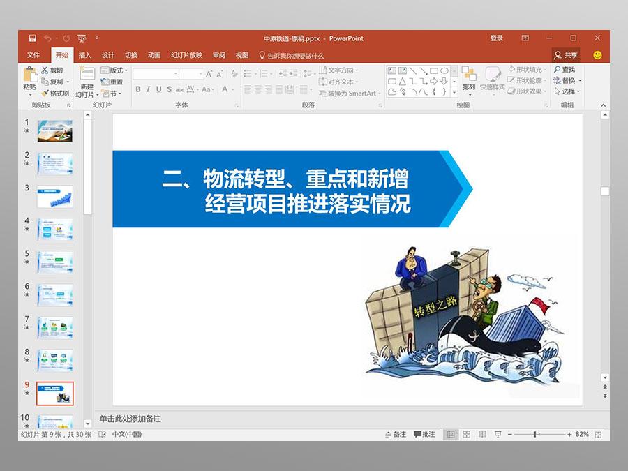 中原铁道公司PPT演示设计-2