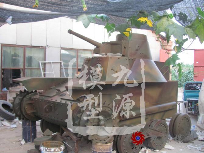 滕州抗日战争博物馆场景-台儿战役坦克4