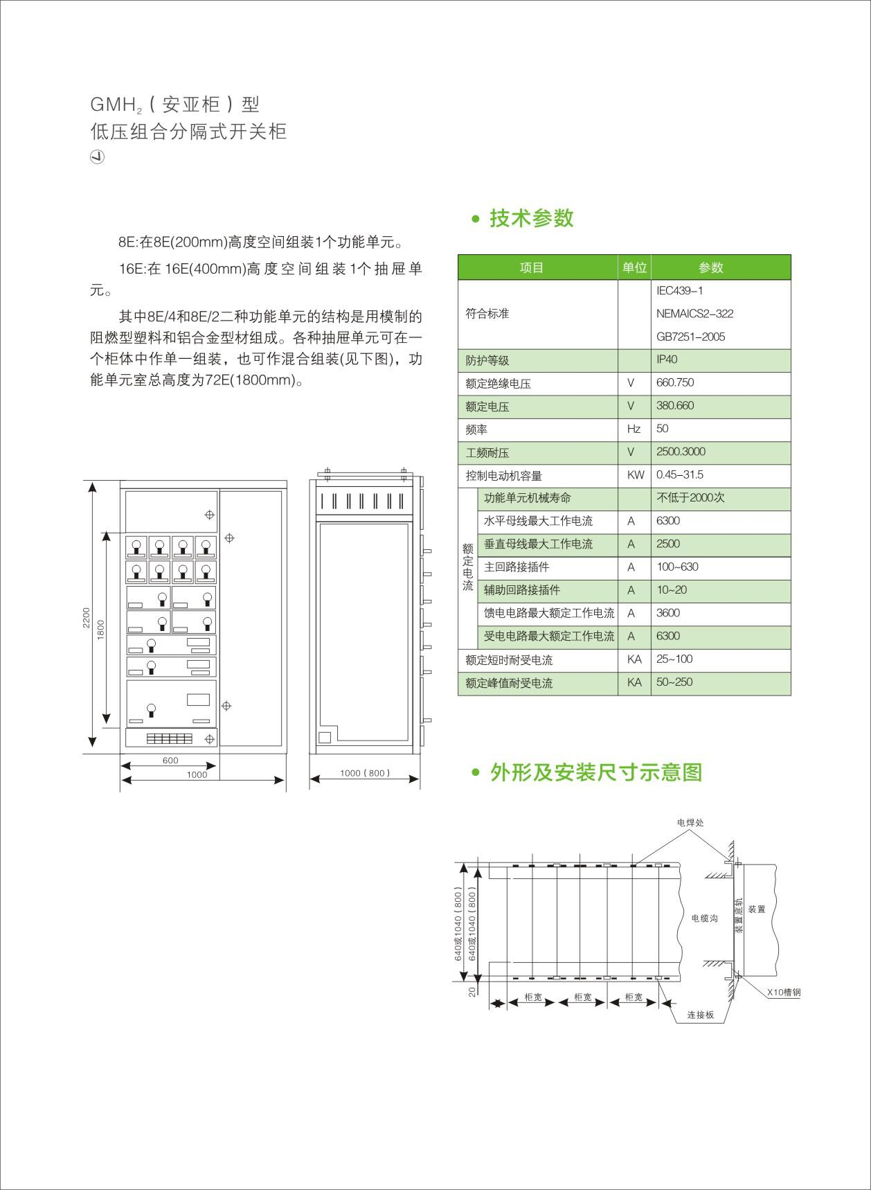 GMH2-安亞柜型低壓組合分隔式開關柜-02