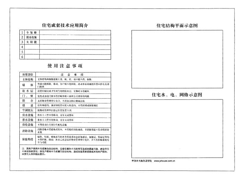 住宅使用说明书-示范文本-住宅使用说明书-示范文本_页面_4