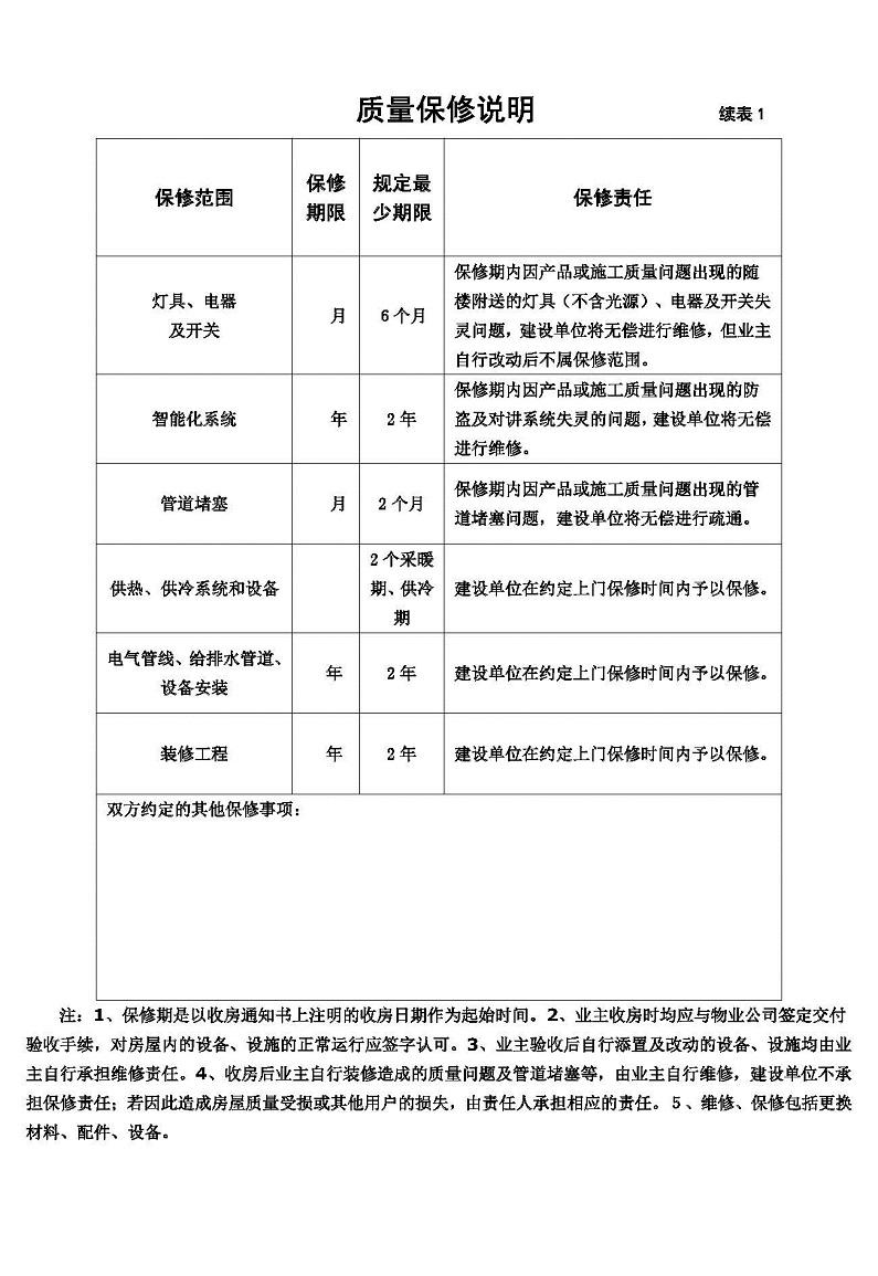 非住宅商品房质量保证书-示范文本-非住宅商品房质量保证书-示范文本_页面_5