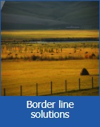 Border line solutions