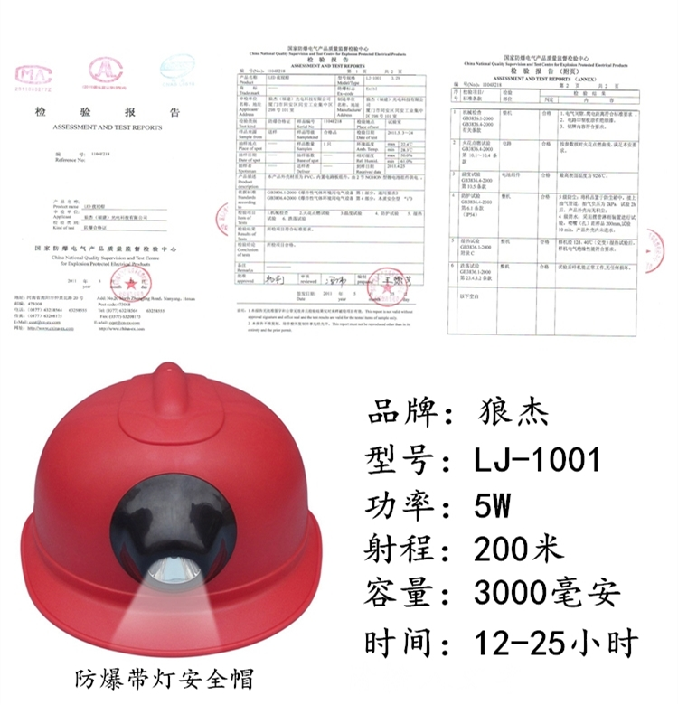 头灯安全帽2