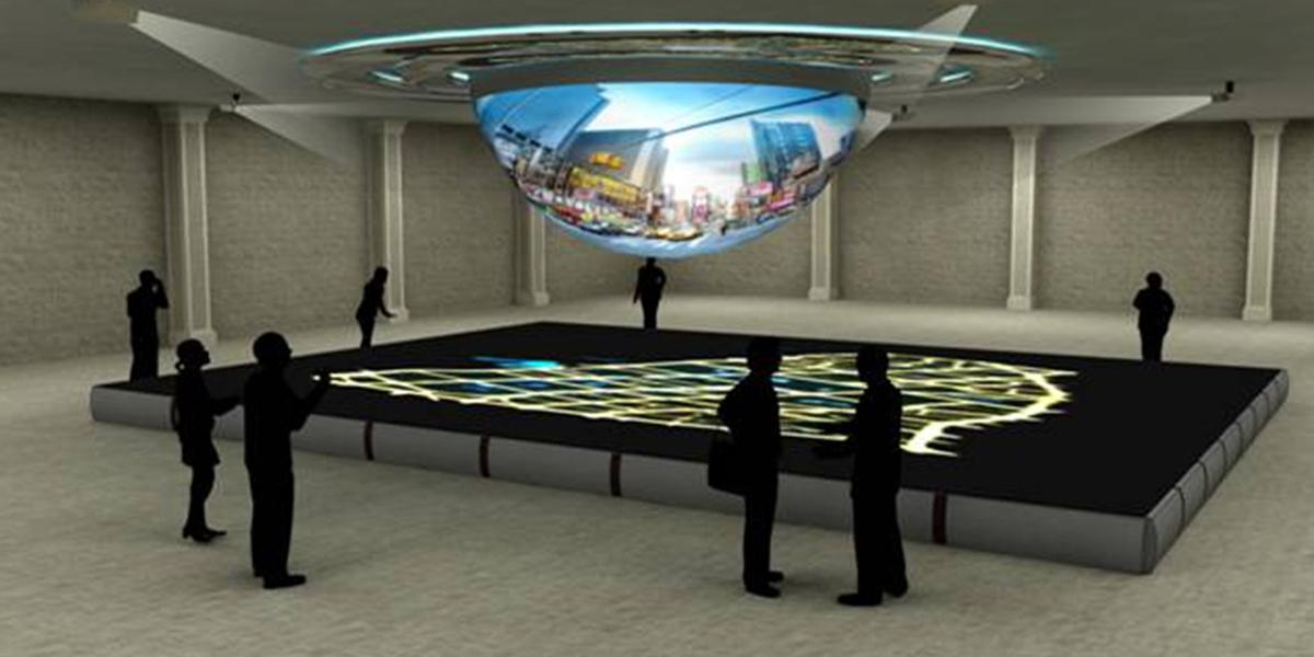 三维立体互动投影沙盘-3