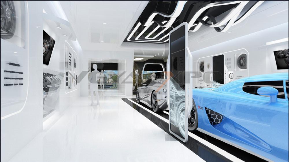绿驰科技馆展厅设计-4