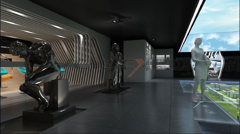 绿驰科技馆展厅设计-8