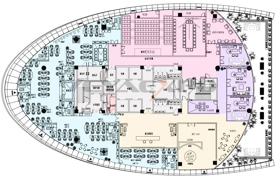展厅设计-招商中心平面布置图