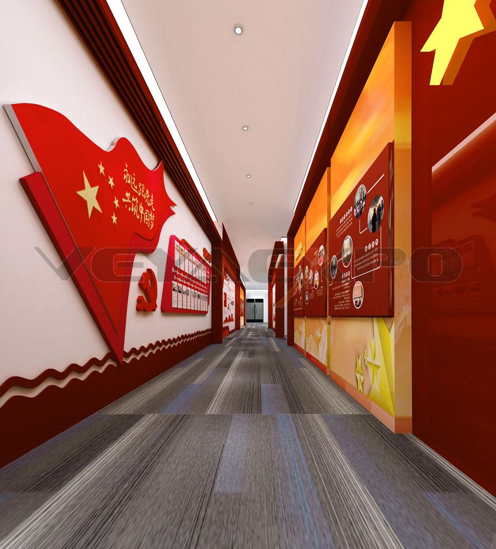 展厅设计-党建走廊