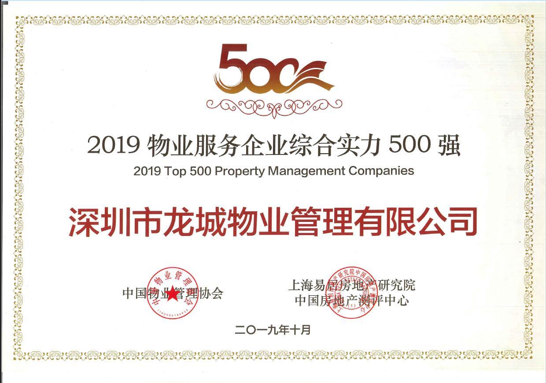 2019物业服务企业综合实力500强