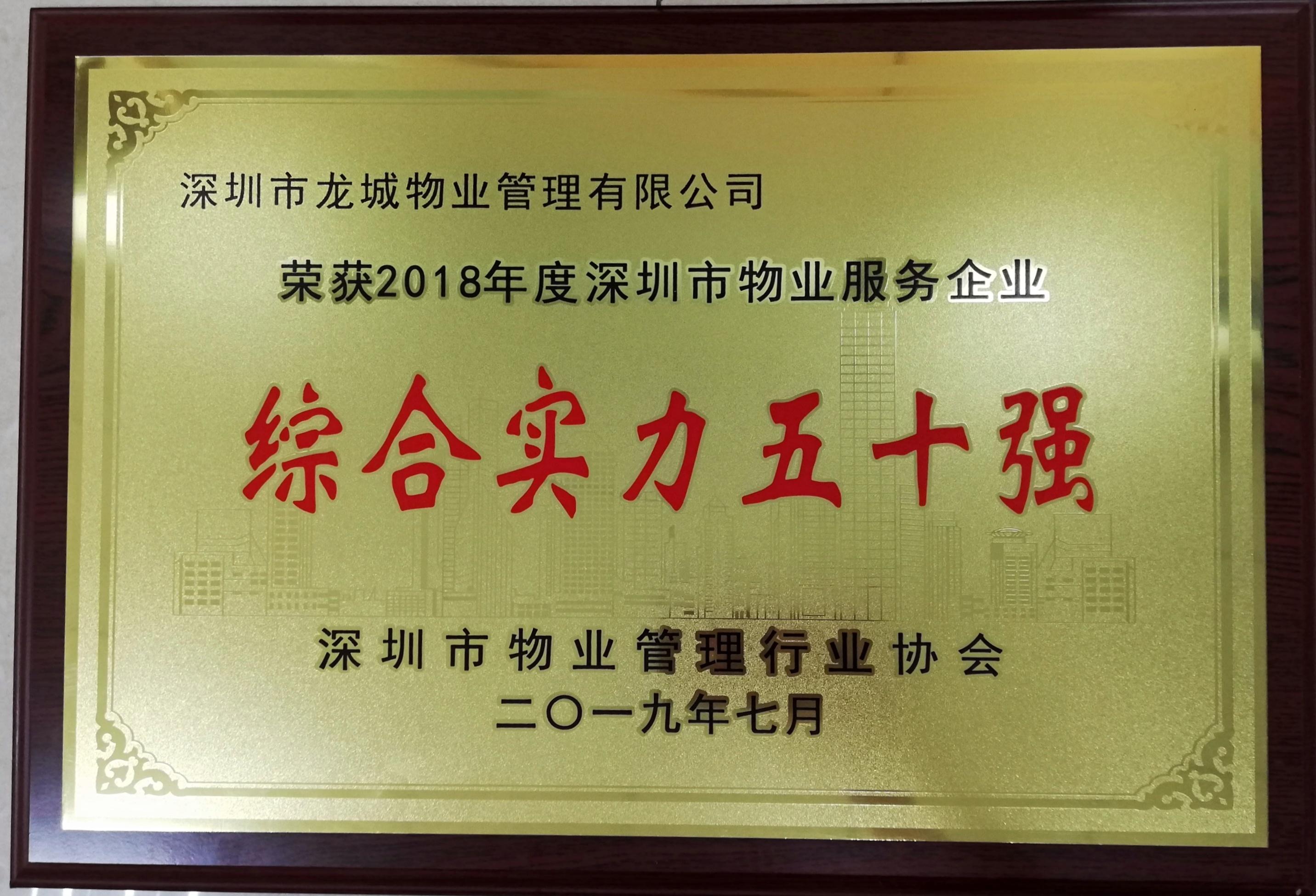 深圳物业服务综合实力50强