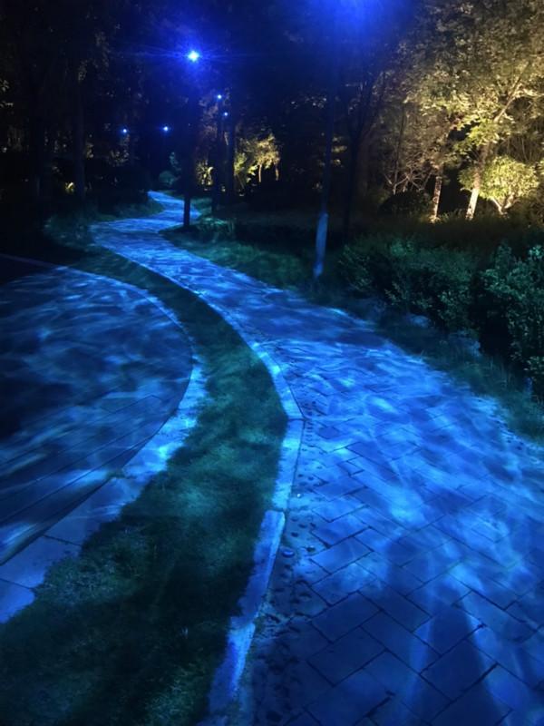 道路亮化水纹效果图