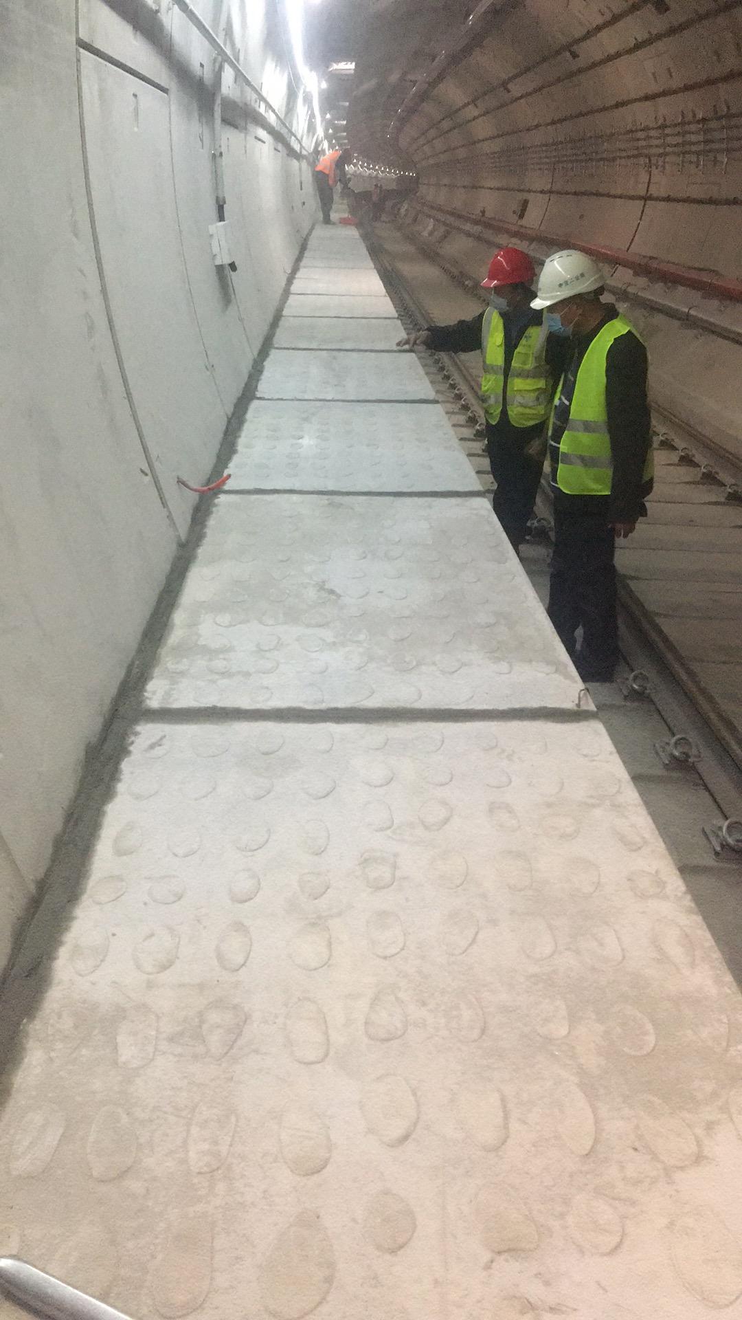地鐵疏散平臺鵝卵石