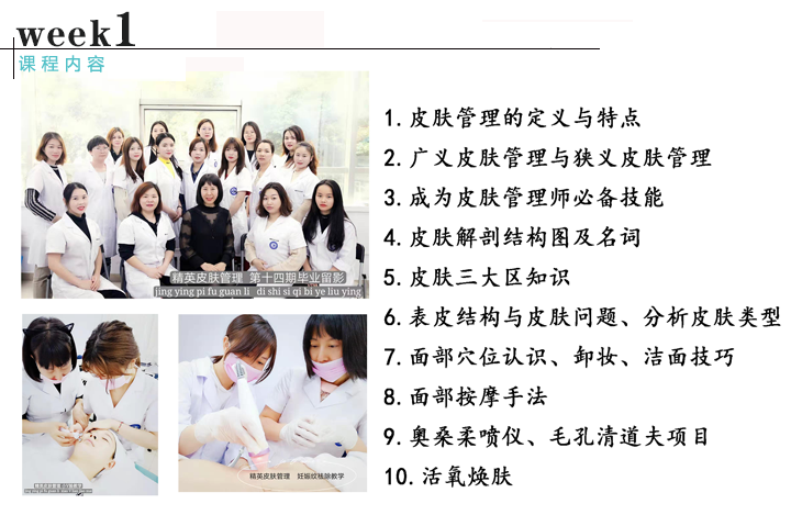 皮肤管理综合班课程内容1